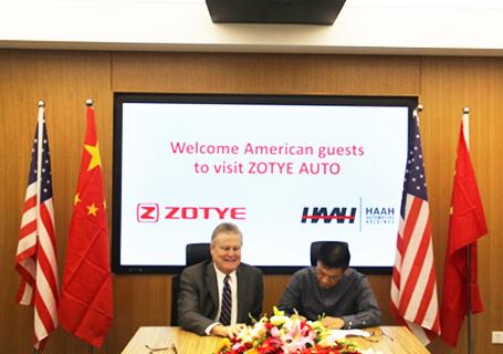 众泰汽车与美国汉姆控股公司签署战略合作协议